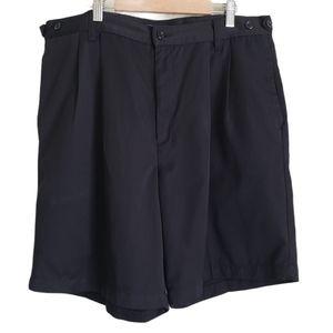 Dockers black pleated bermuda shorts size W36